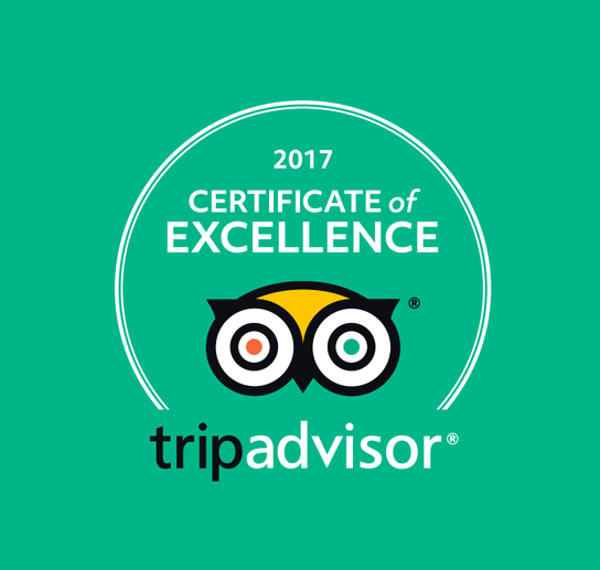 Andrewshayes Trip Advisor Award of Excellence 2017