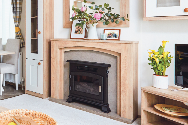 Andrewshayes Beech 2 VIP Bed - Fire Place